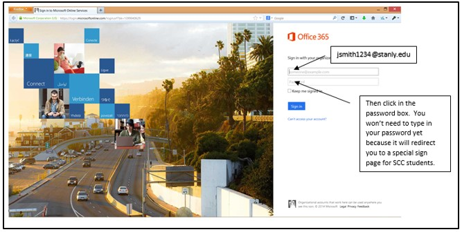 Office 365 Login Page screenshot