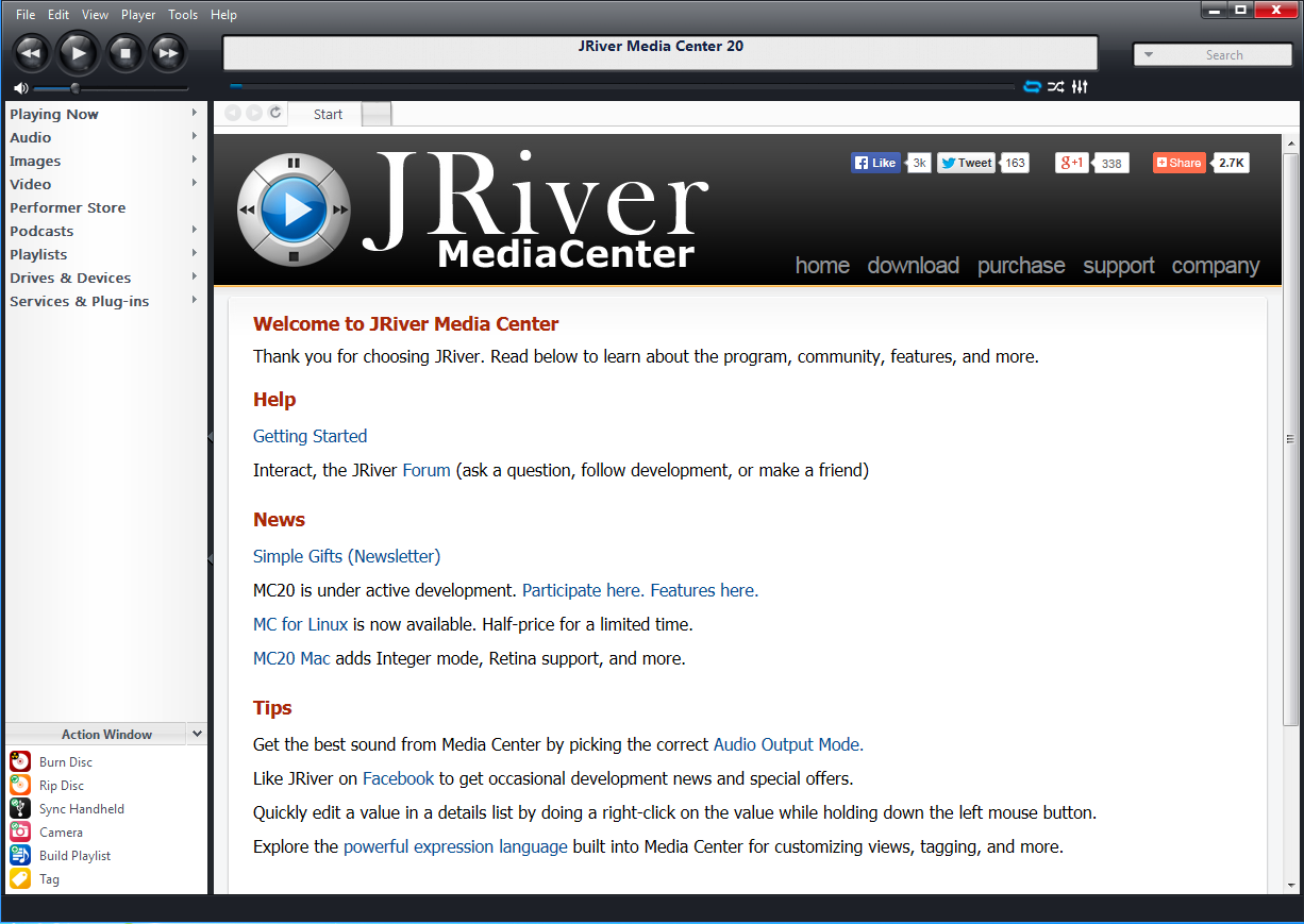 Using JRiver Media Center With Geek Out - Setup And User Guide : LH Labs