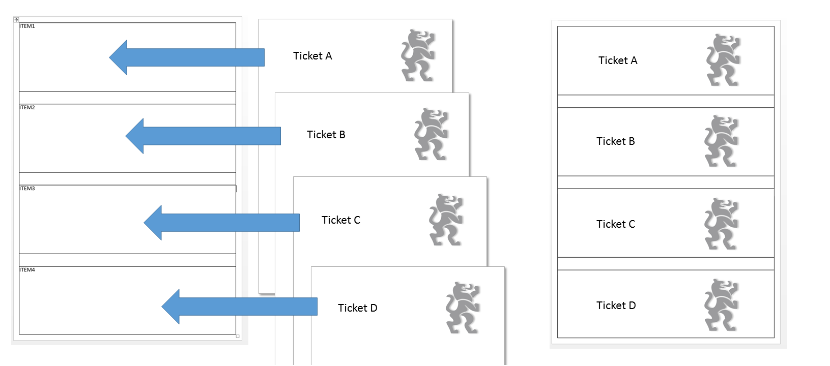 word templates for multiple ticket print m anage com helpdesk when a background picture which is higher than the defined space is used in ticket templates it will be also shown in the gap to the next ticket which is