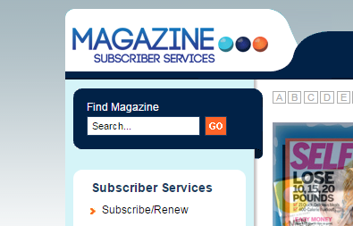 Search Magazine Subscriber Services.