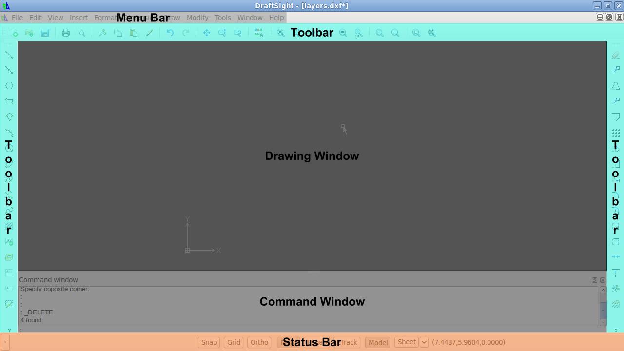 DraftSight User Interface : EagleRock Products
