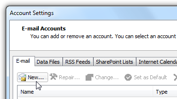 add gmail account to outlook 2010