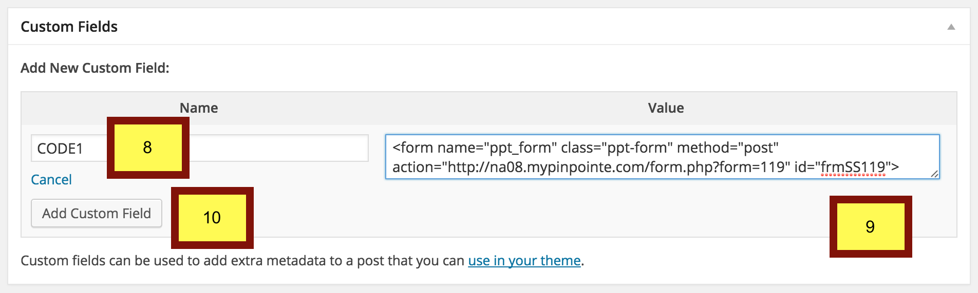 How do I add my email subscription form to WordPress