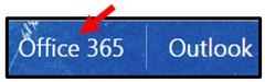 Office 365 Outlook tab screenshot
