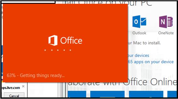 Office loading screen
