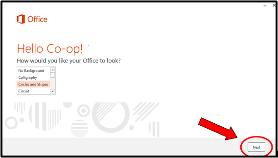 how would you like your office to look pop-up screenshot
