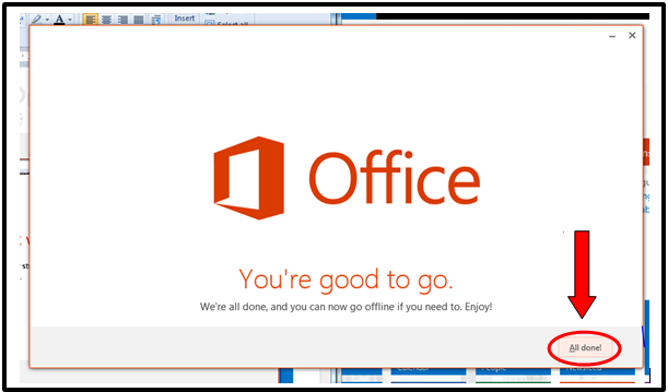 Office You're good to go screenshot