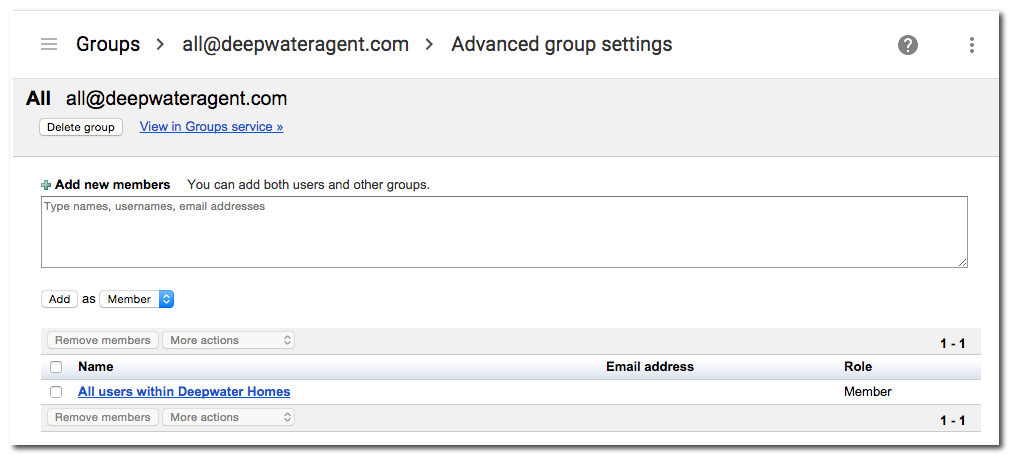 how to create a group email list in google mail