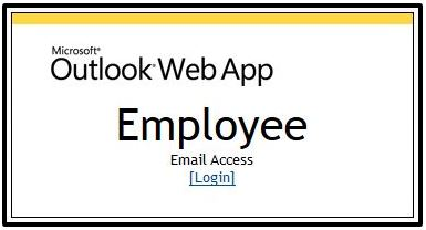 Microsoft Outlook Web App employee email screenshot