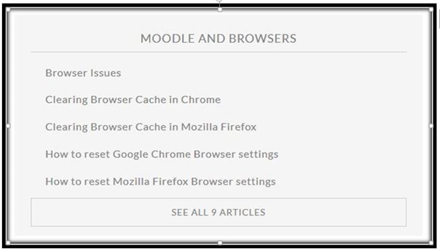 Moodle and Browsers screenshot