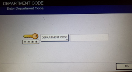screenshot of department code