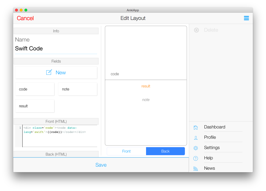 What are Layouts? : AnkiApp Support