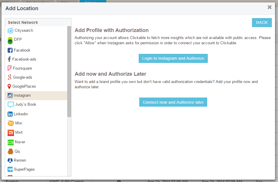 Adding an instagram location resources choose to either authorize your location now or authorize later ccuart Gallery