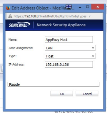 Configuring SonicWall Firewall : Applianz Support