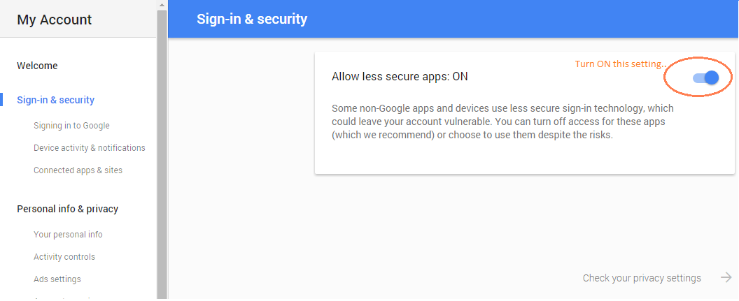 AllowLessSecureApps
