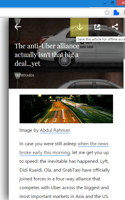 Save Articles in Offline in Basket for Chrome