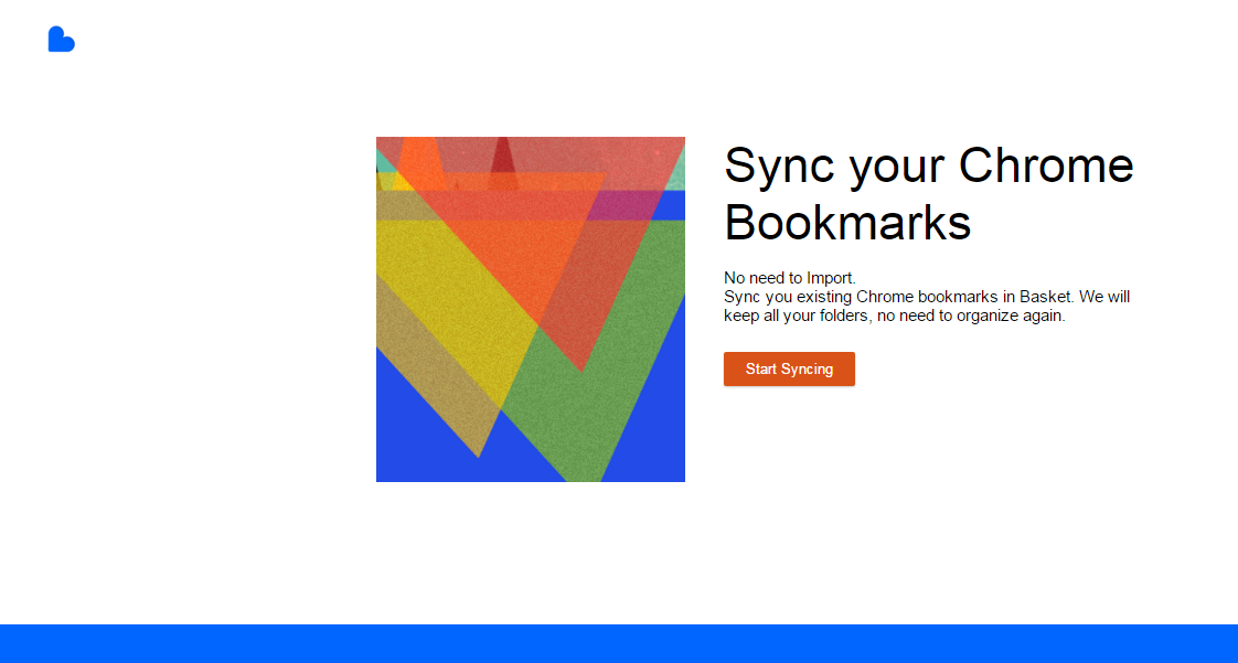 sync your chrome bookmarks in basket