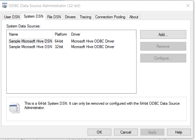 Install ODBC Drivers and Create a DSN :