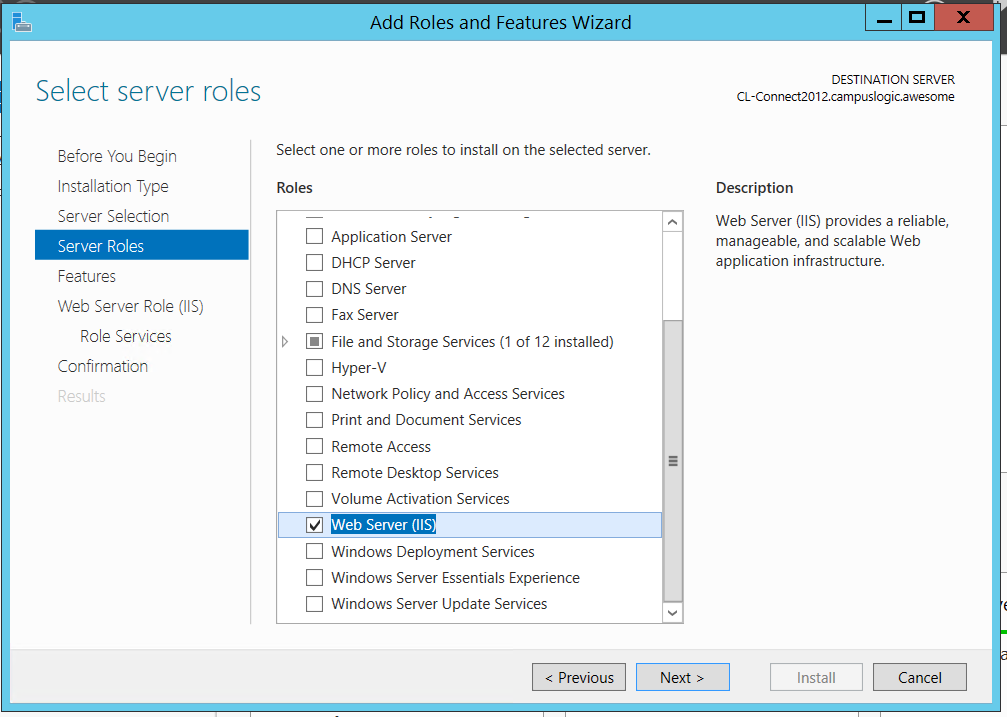 Windows Server 2012 IIS Install and Configuration :