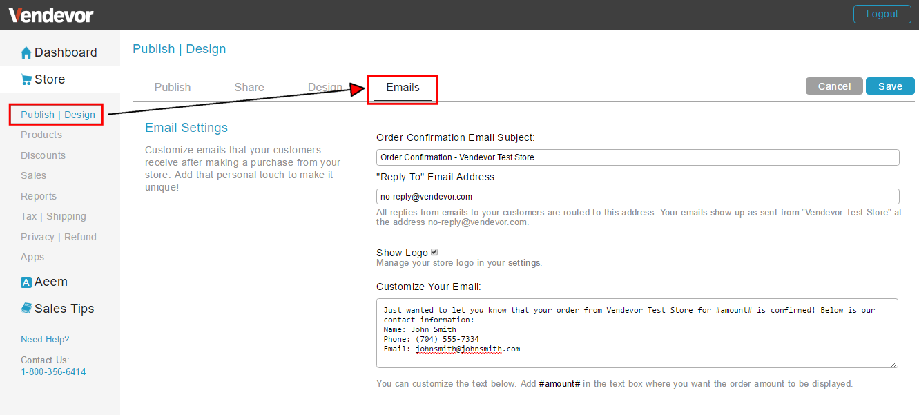 Editing Order Confirmation Email : Support