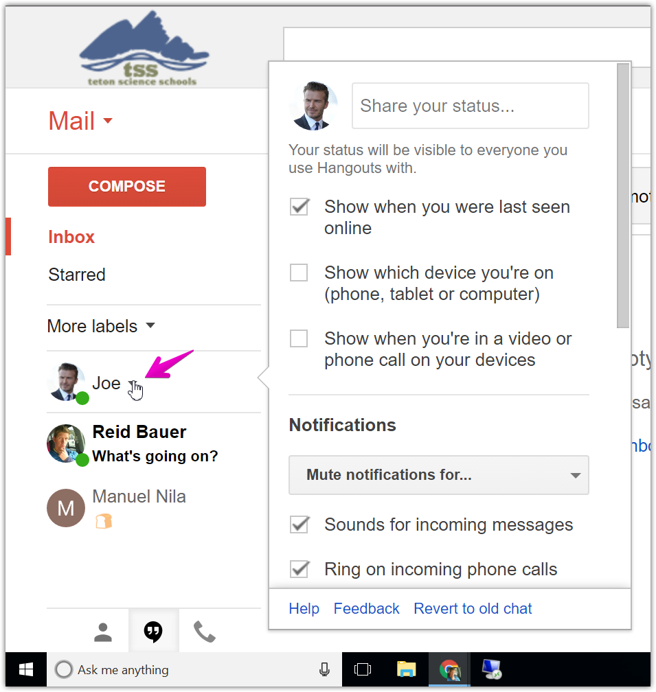 Google Chat : Teton Science Schools Helpdesk