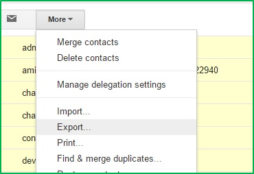 Contacts Migration from Google Apps to Office 365