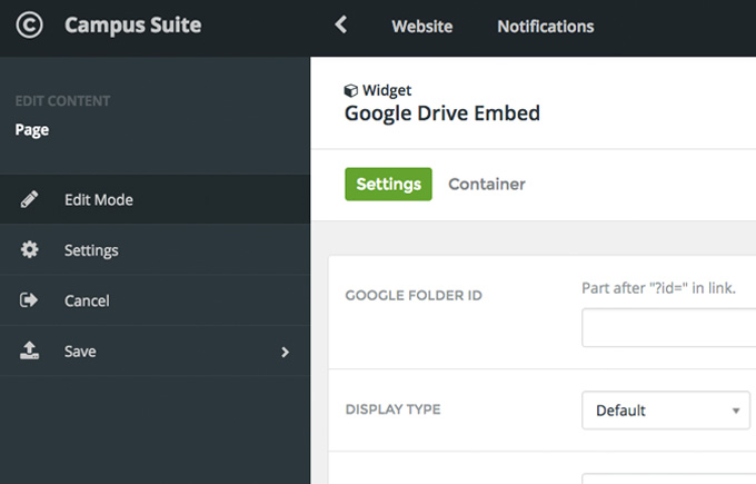 Embed a Google Drive folder on your web page : Help Desk