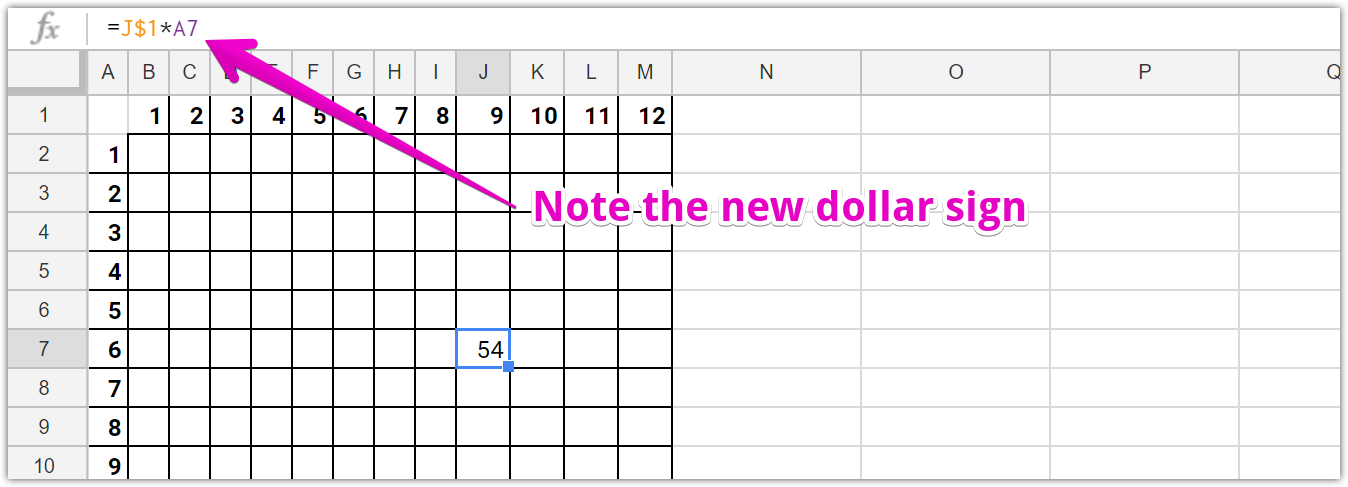 Relative and Absolute References in Google Sheets and