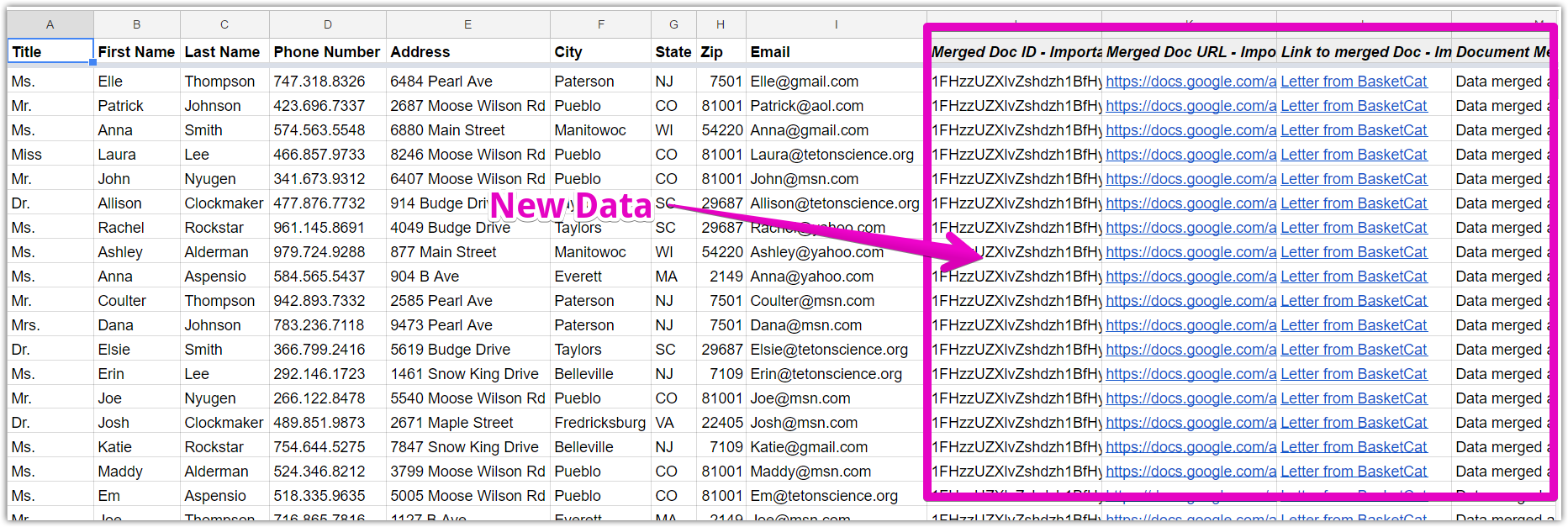 How to Use the AutoCrat Extension to Perform Mail Merges