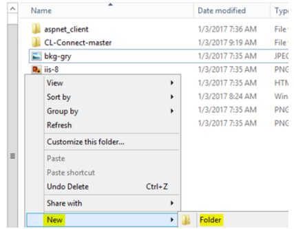 Create/Identify Network Folders :