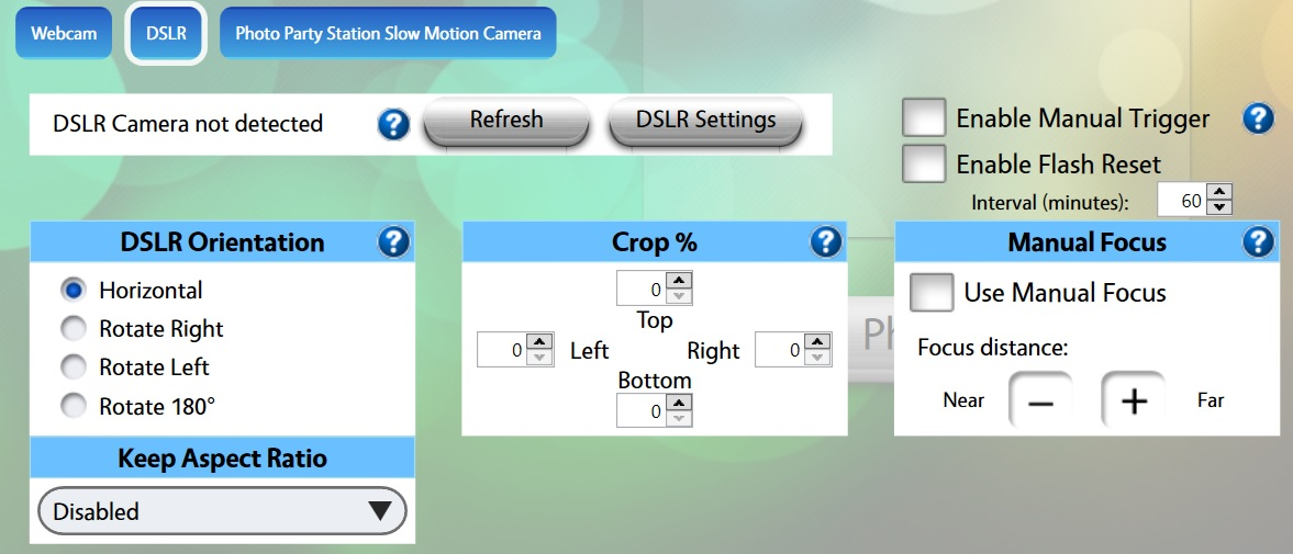 Camera Settings - Overview : LA Photo Party Support