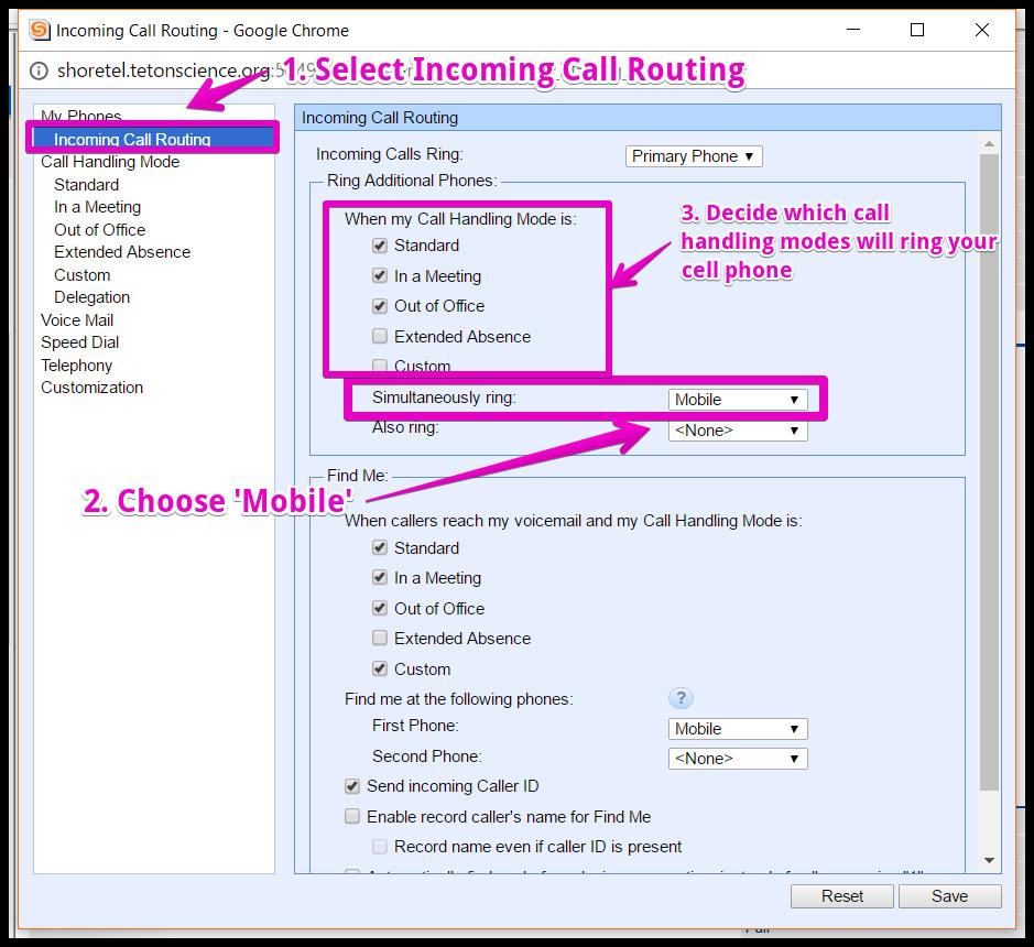 Shoretel Phone Advanced Call Handling Features Teton Science