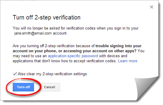 Turn off Two-Way Authentication on Your Gaming Device : G2G