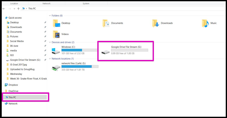 adding google drive to the windows explorer sidebar