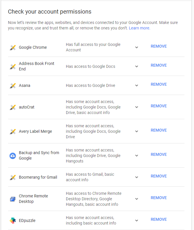 Double-Checking the Security Settings of your Google Account