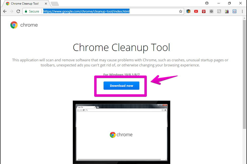 Disable Shady Extensions with the Chrome Cleanup Tool