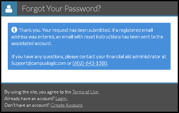 School Users - Password Reset (DSO Only) :