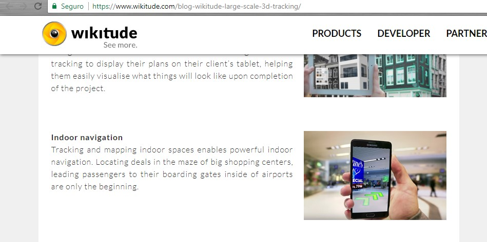 Geo-based for indoor use : Wikitude