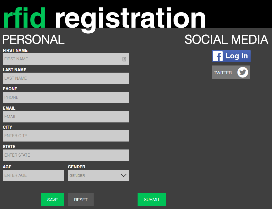 RFID Registration : LA Photo Party Support