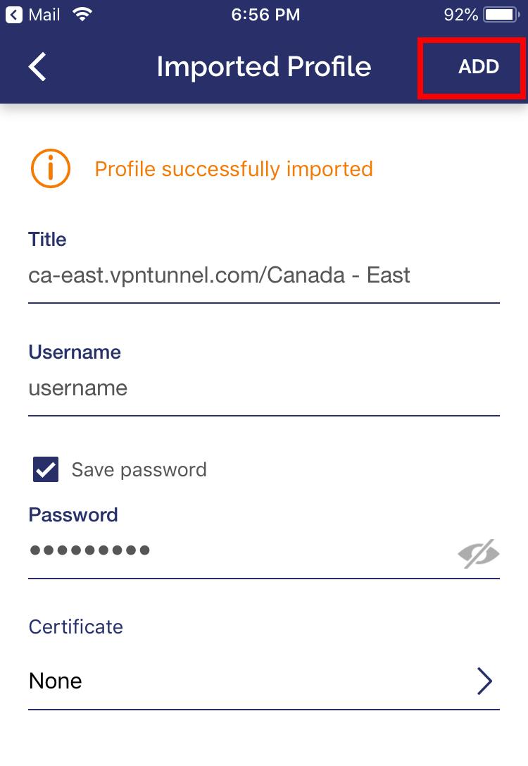 Install VPNTunnel using OpenVPN on All iOS Devices : VPNTunnel