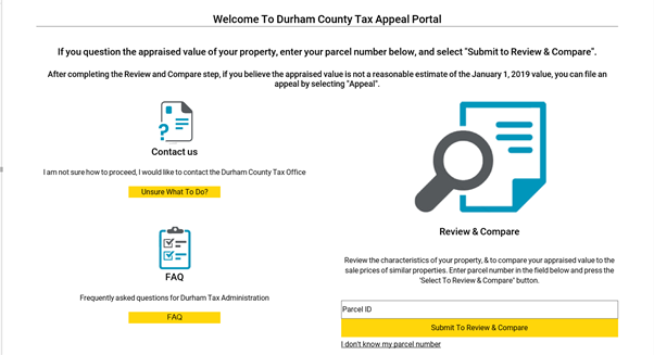 Figure 3 Tax appeal Portal Homepage