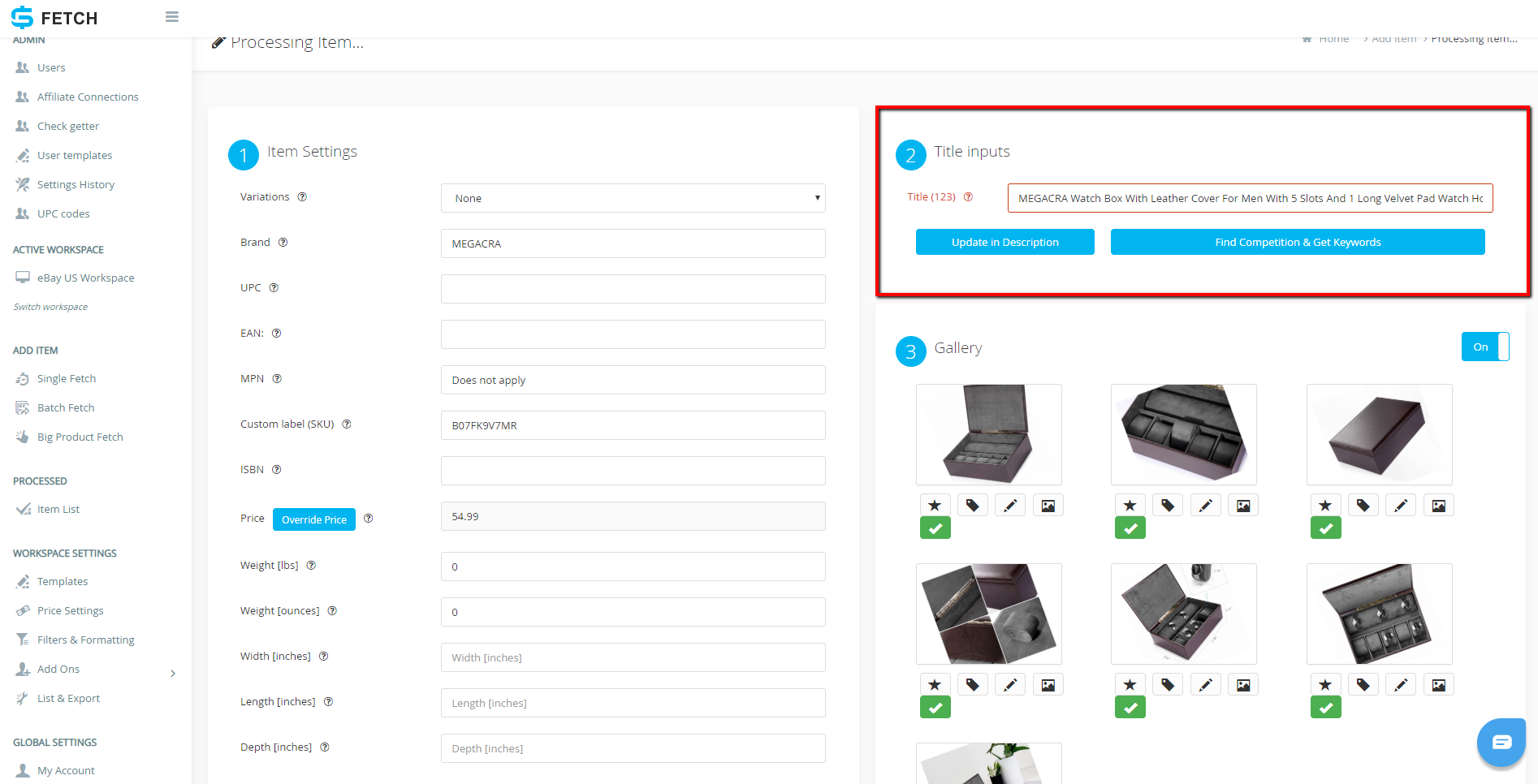 How To List A Single Item Using Sku Fetch And Ebay Selling Manager Without Api Access Sku Grid