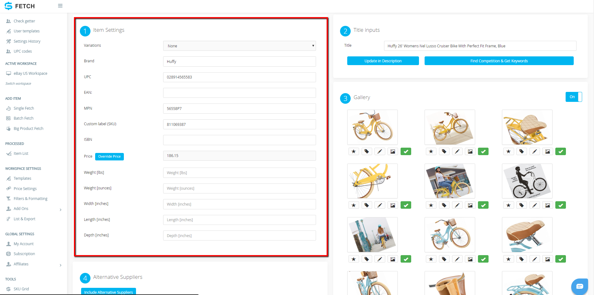 How to List a Single Variation Item Using Sku Fetch and eBay Selling