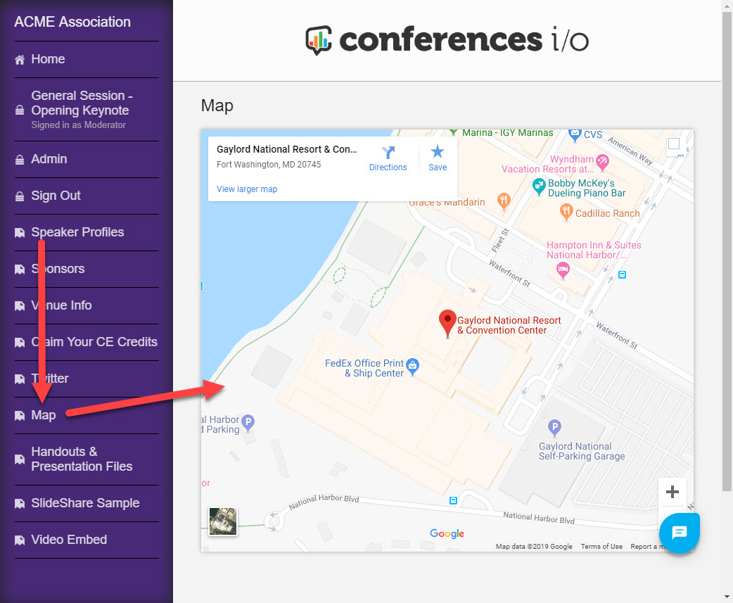 Add a Google Map to your App : Conferences i/o Support