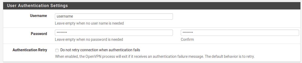 VPNTunnel: OpenVPN - pfSense Manual Configuration : VPNTunnel