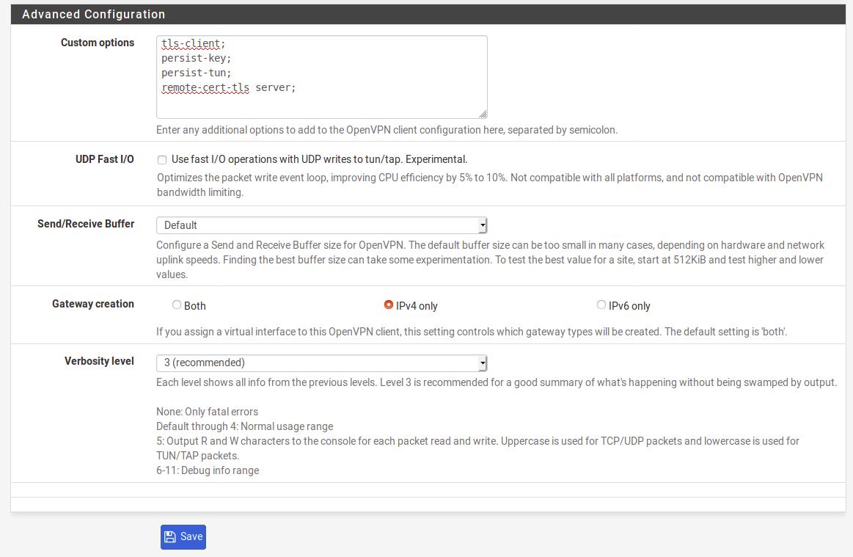 Anonine: OpenVPN - pfSense Manual Configuration : Anonine