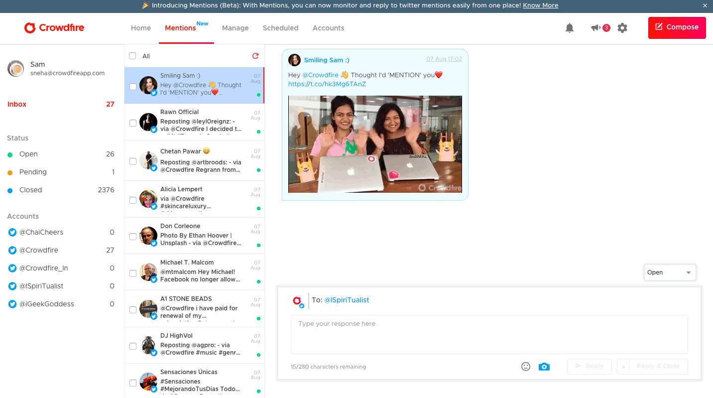 Crowdfire Mentions (Beta) Explained : .