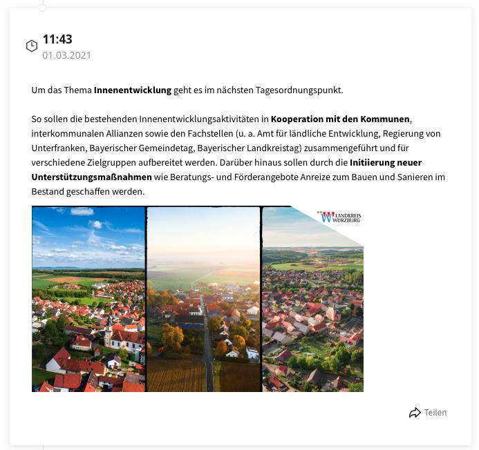 Landratsamt Würzburg berichtet mit eigenem Liveblog über den Kreistag in Margetshöchheim (tickaroo.com)