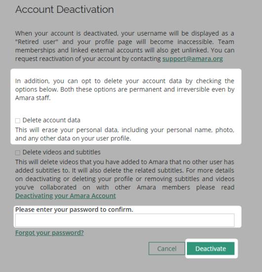 Delete personal information highlight screenshot