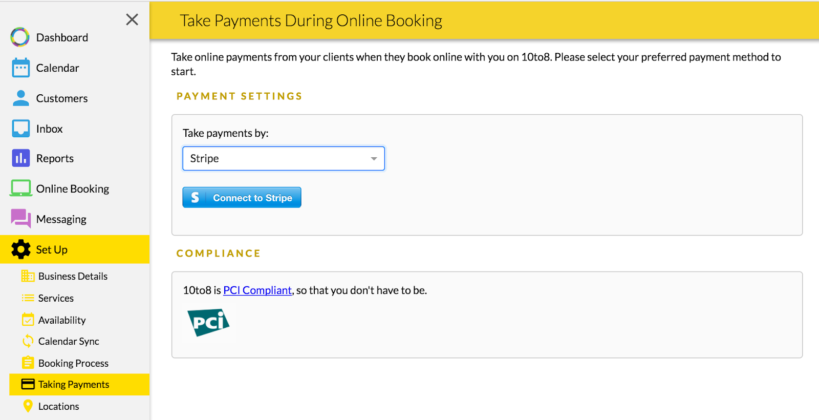 Taking payments